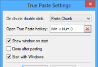 True Paste Settings